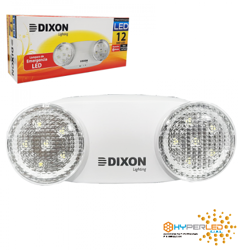 LUZ DE EMERGENCIA 12 LEDS DIXON EMERDIX12-6HRS