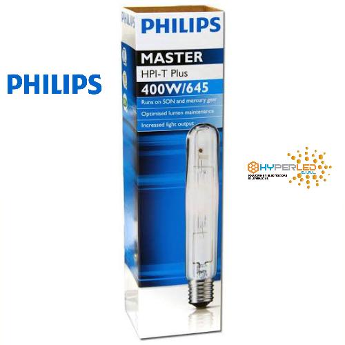 LAMPARA MASTER HPI-T PLUS 400W 645 E40 PHILIPS.
