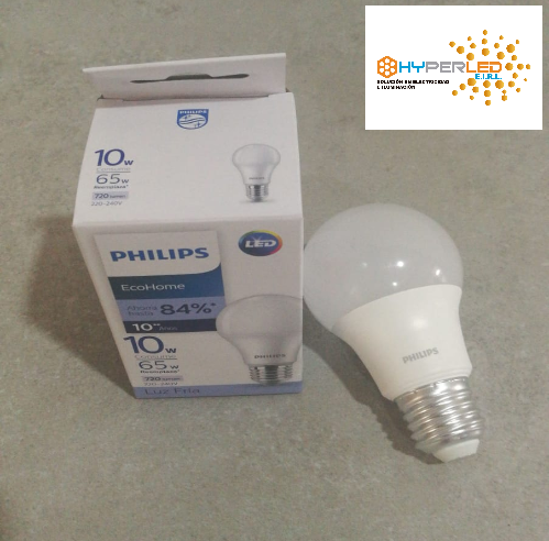 LAMPARA LED BULB CLASICA 10W LUZ BLANCA PHILIPS