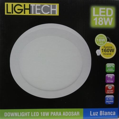 PANEL LED REDONDO  ADOSABLE 18W LUZ BLANCA LIGHTECH