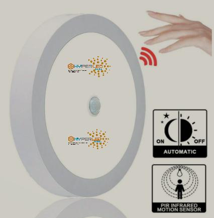 PANEL LED CON SENSOR DE PRESENCIA 18W IP20 LUZ BLANCA ADOSABLE (1530 LM) HYPERLED