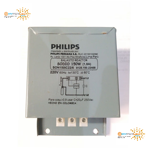 BALASTRO P/LAMP VAPOR DE SODIO 150W 220V PHILIPS